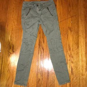 American Eagle Skinny Jeans Gray/Green